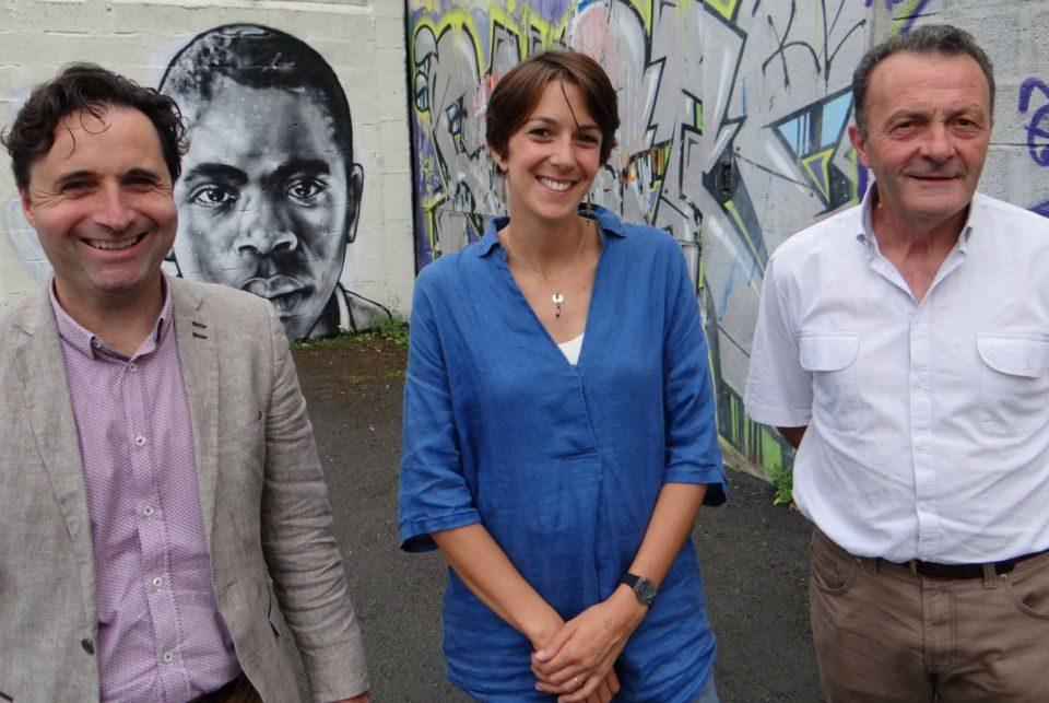 Franck Esparza, Coordinateur jeunesse, Cécile Raseta, Resp. SIJ, Gaby Le Guellec, Vice-Président